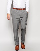 Asos Slim Smart Work Trousers In Grey