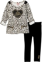Juicy Couture Lace Shoulder Leopard Print Tunic & Legging Set (Toddler Girls)