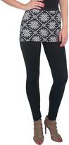 Magid Black & White Abstract Skirted Leggings - Plus Too