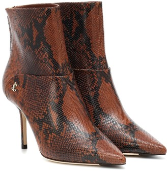 Jimmy Choo Beyla 85 snake-effect ankle boots