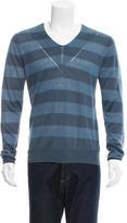 Burberry Striped V-Neck Sweater