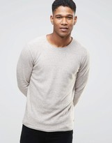 Esprit Crew Neck Knit with Raw Hem Detail