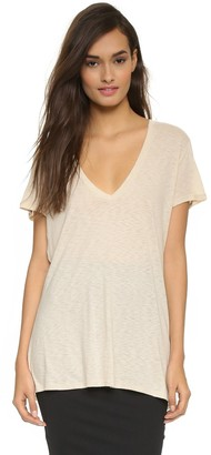 David Lerner Women's Super Deep V Neck Tee