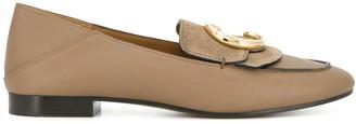 Chloé C-logo loafers