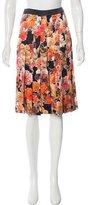 Givenchy Floral Print Silk Shorts