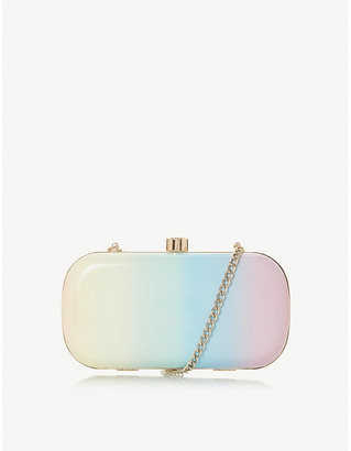 Dune Bonique rainbow-print clutch bag