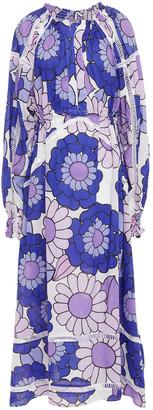 Dodo Bar Or Myra Crochet-trimmed Floral-print Cotton Maxi Dress