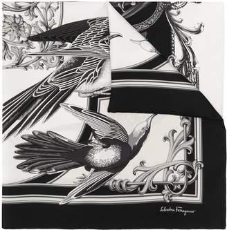 Salvatore Ferragamo Ornate Bird-Print Scarf