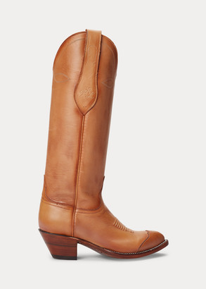 Ralph Lauren Kiera Leather Cowboy Boot