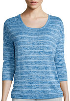 Liz Claiborne 3/4-Sleeve Striped Knit Top
