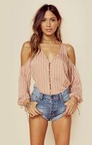 L'academie the v-neck shoulder blouse