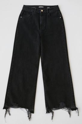 DL1961 Hepburn High-Waisted Wide Leg Jean Lark