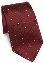 Armani Collezioni Diamond Grid Patterned Silk Tie