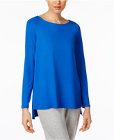 Eileen Fisher Jersey Boat-Neck High-Low Top