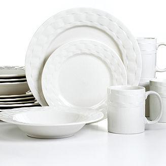Pfaltzgraff Dinnerware, Ribbon 16 Piece Set