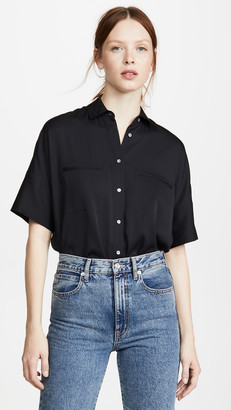 Vince Short Sleeve Blouse