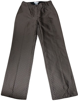 Celine Brown Silk Trousers
