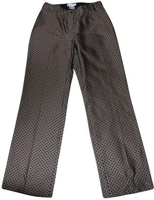 Celine Brown Silk Trousers
