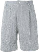 MAISON KITSUNÉ striped bermuda shorts - men - Cotton - M
