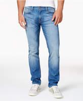 GUESS Men's Light Blue Slim Straight Fit Jeans