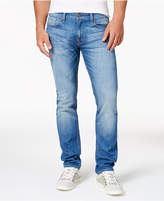GUESS Men's Light Blue Slim Straight Fit Stretch Jeans