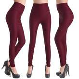 CFR Lady Women's Fashion Faux Leather Jeggings High Waist Leggings Pants ,L USPS Post