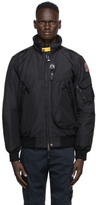Parajumpers Black Down Masterpiece Fire Bomber Jacket