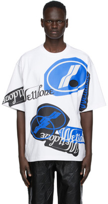 we11done White Stacked Logo T-Shirt