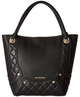 Love Moschino Pebble Quilted Satchel