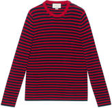 Gucci Striped cotton crew neck sweater