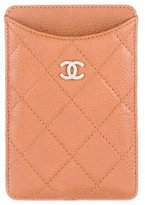 Chanel Quilted Leather Phone Holder