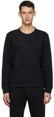Fendi Black Logo Tape Sweatshirt