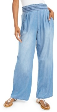 Rewash Juniors' Chambray Soft Pants