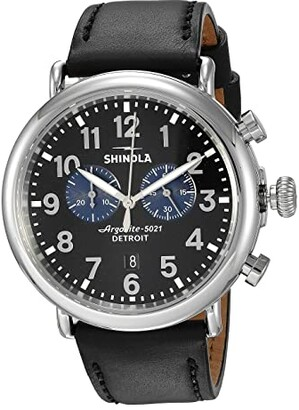 Shinola Detroit The Runwell Chronograph 47mm - 20109242 (Black/Black/Blue Eyes) Watches