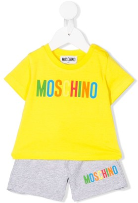 MOSCHINO BAMBINO Logo-Print Two-Piece Set