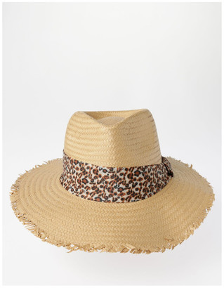 Piper Animal Trim Fedora With Frayed Edge Summer Hats