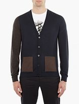 Maison Margiela Tricolore Panelled Wool Cardigan