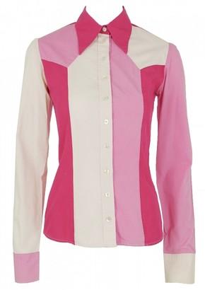 Alexander McQueen Pink Cotton Top for Women Vintage