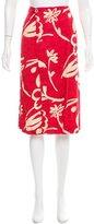 Celine Printed Slit-Accented Skirt