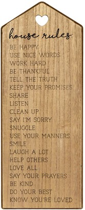 New View Gifts & Accessories House Rules Wall Art