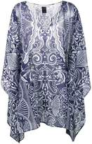 Mary Katrantzou Playing cards short kaftan