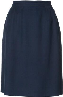 Yves Saint Laurent Pre Owned High Rise Straight Skirt