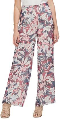 Vince Camuto Tropical Escape Floral Wide Leg Pants