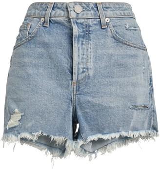Le Jean Adele Frayed Denim Shorts
