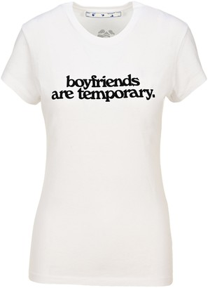 Off-White Boyfriends Are Temporary T-Shirt