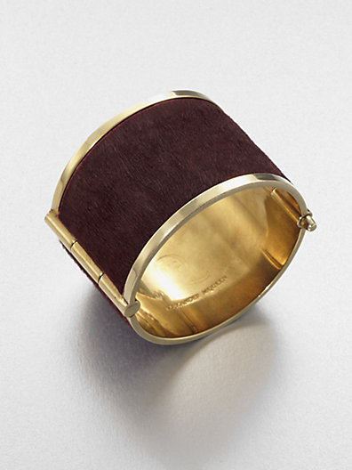 McQ Pony Hair Wide Cuff Bracelet