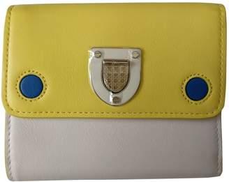 Christian Dior Diorama Ecru Leather Wallets