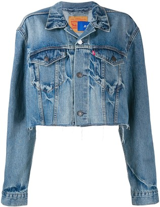 Ji Oh cropped denim jacket