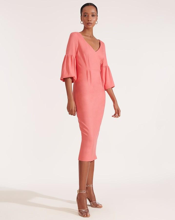 Veronica Beard Amalita Tea-Length Dress