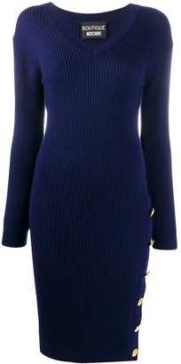 Boutique Moschino Side Button Dress